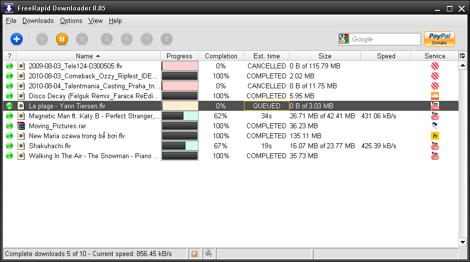 Full FreeRapid Downloader screenshot
